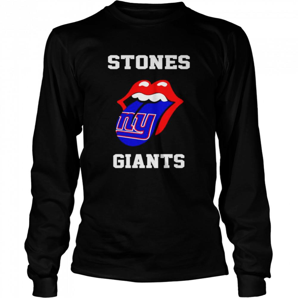 the rolling stones new york giants lips shirt long sleeved t shirt