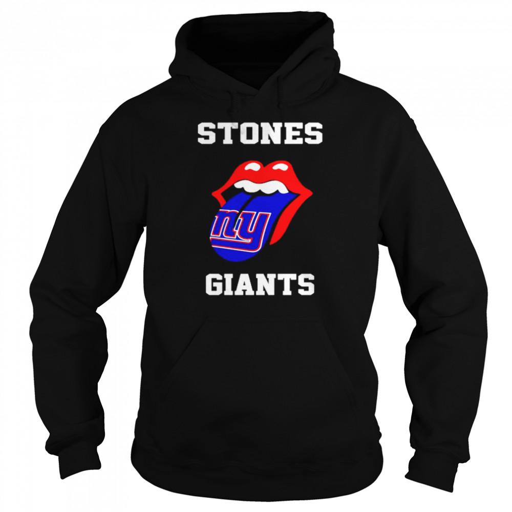 the rolling stones new york giants lips shirt unisex hoodie