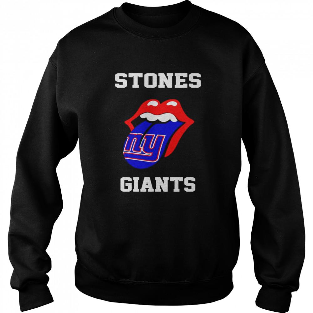 the rolling stones new york giants lips shirt unisex sweatshirt