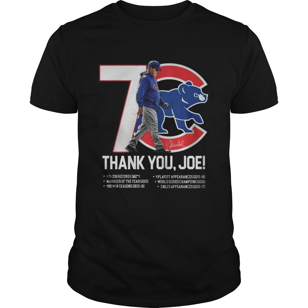 7 Chicago Cubs thank you Joe Maddon Rumors shirt Classic Men's