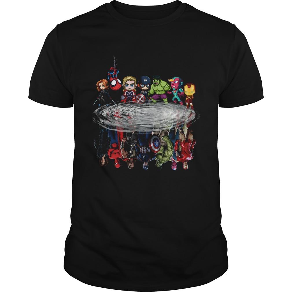 Avengers Chibi water reflection shirt Classic Men's