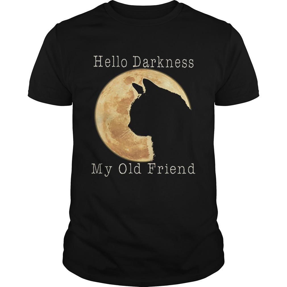 Cat moon Hello darkness my old friend shirt Classic Men's