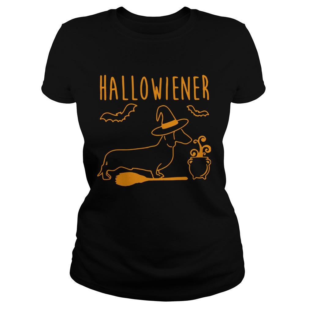 halloween dachshund witch halloweiner  classic ladies