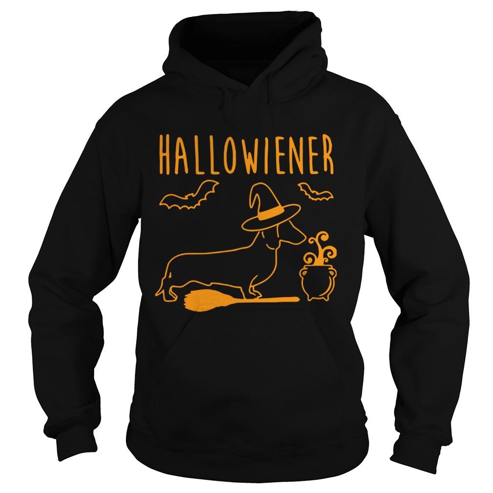 halloween dachshund witch halloweiner  hoodie