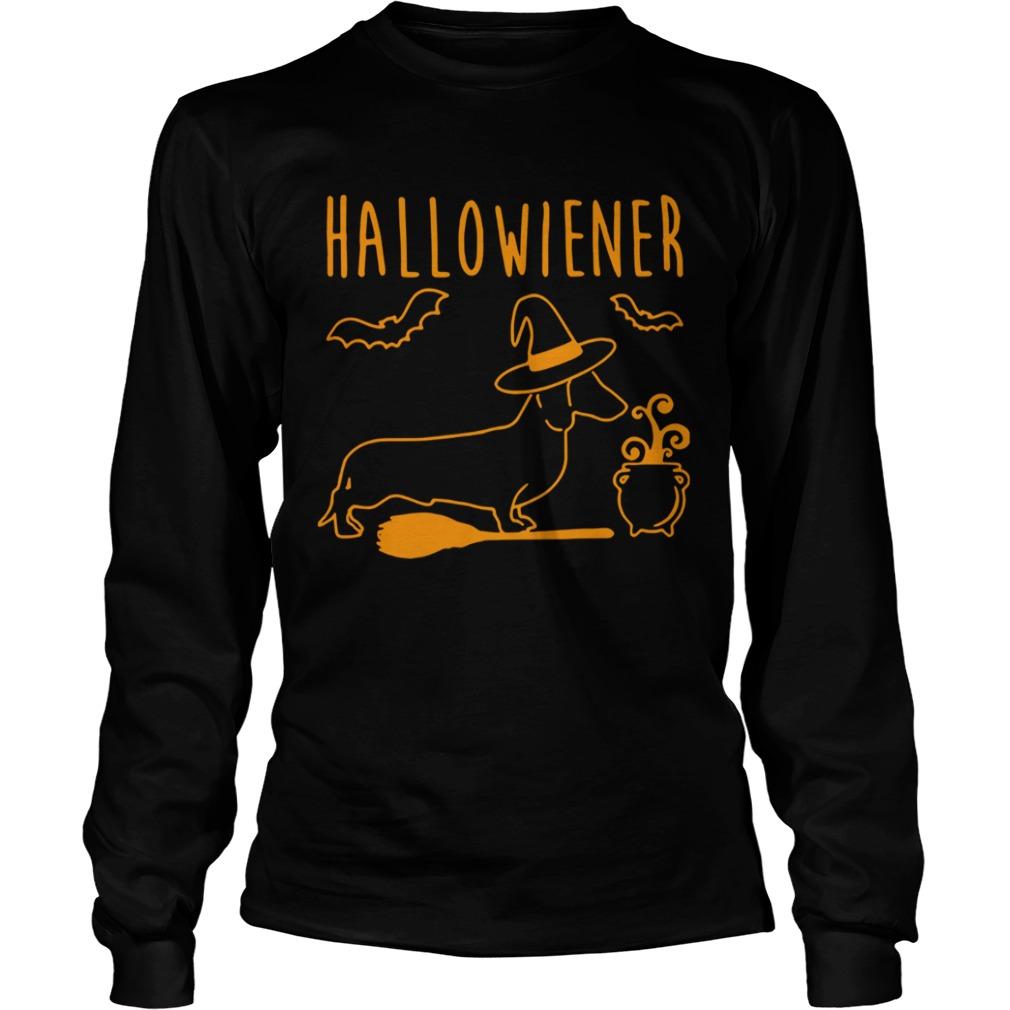 halloween dachshund witch halloweiner  longsleeve
