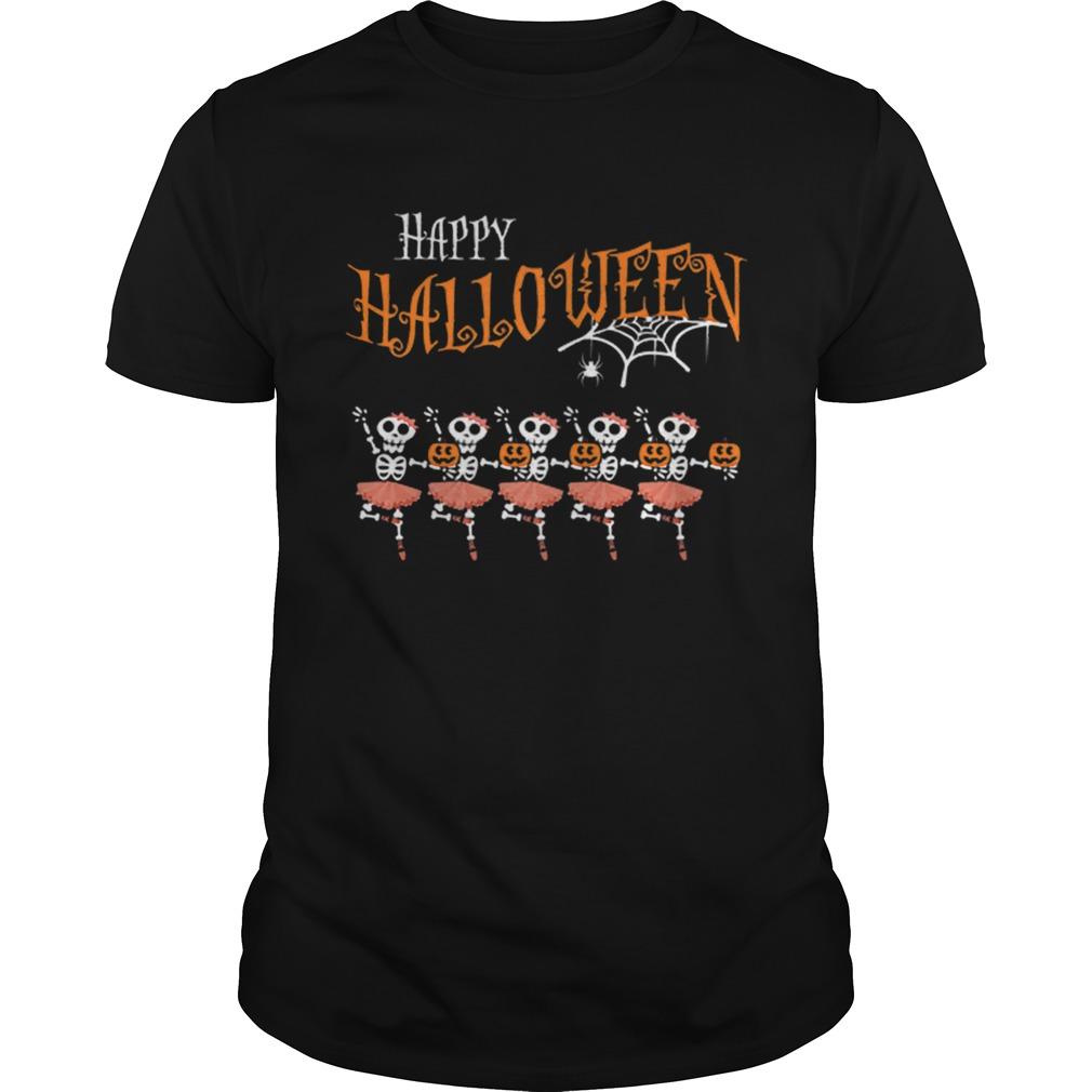 Halloween Dancing Ballet Skeleton Ballerina Costume shirt Classic Men's
