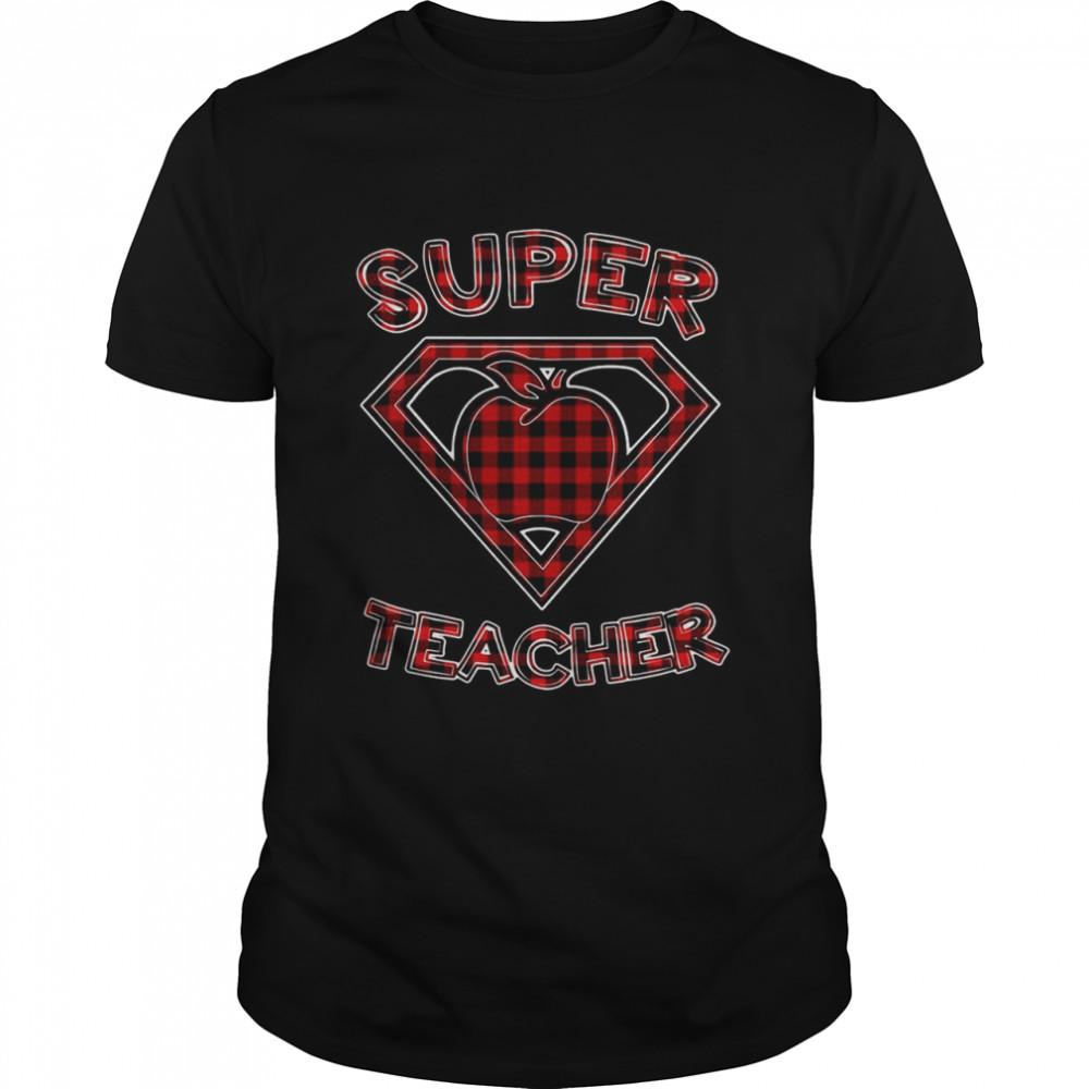 Super Teacher Superhero Apple T-shirt Classic Men's T-shirt