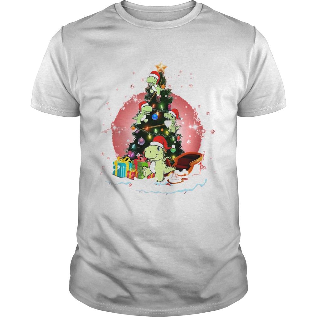 Baby Dinosaur Christmas Tree shirt Classic Men's