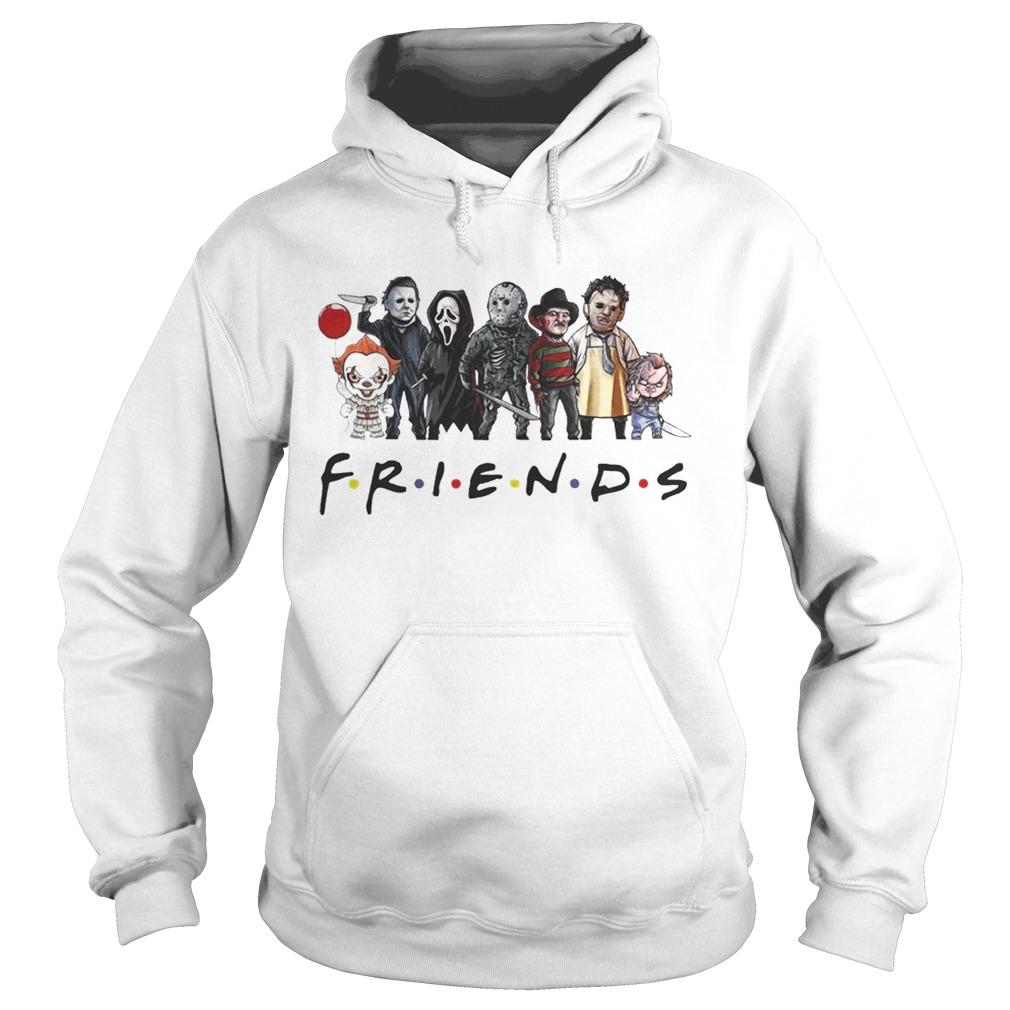 friends horror characters chibi  hoodie
