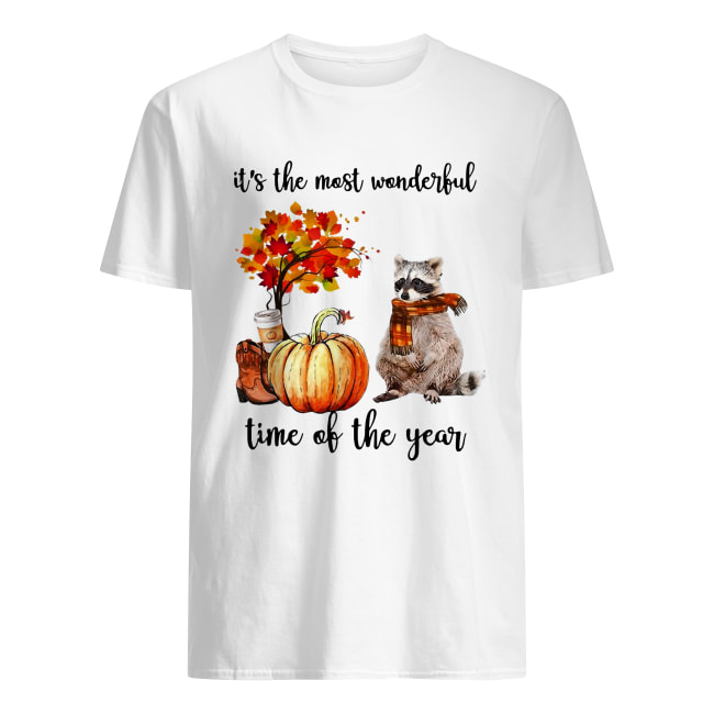 Raccoon it's the most wonderful time of the year shirt Classic Men's
