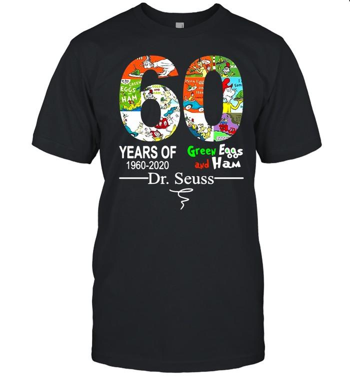 60 Years of green eggs and ham 1960 2020 dr.seuss T-shirt Classic Men's T-shirt
