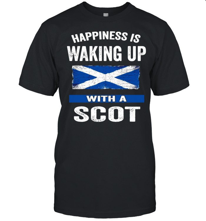 Happiness Is Waking Up With A Scot T-shirt Classic Men's T-shirt