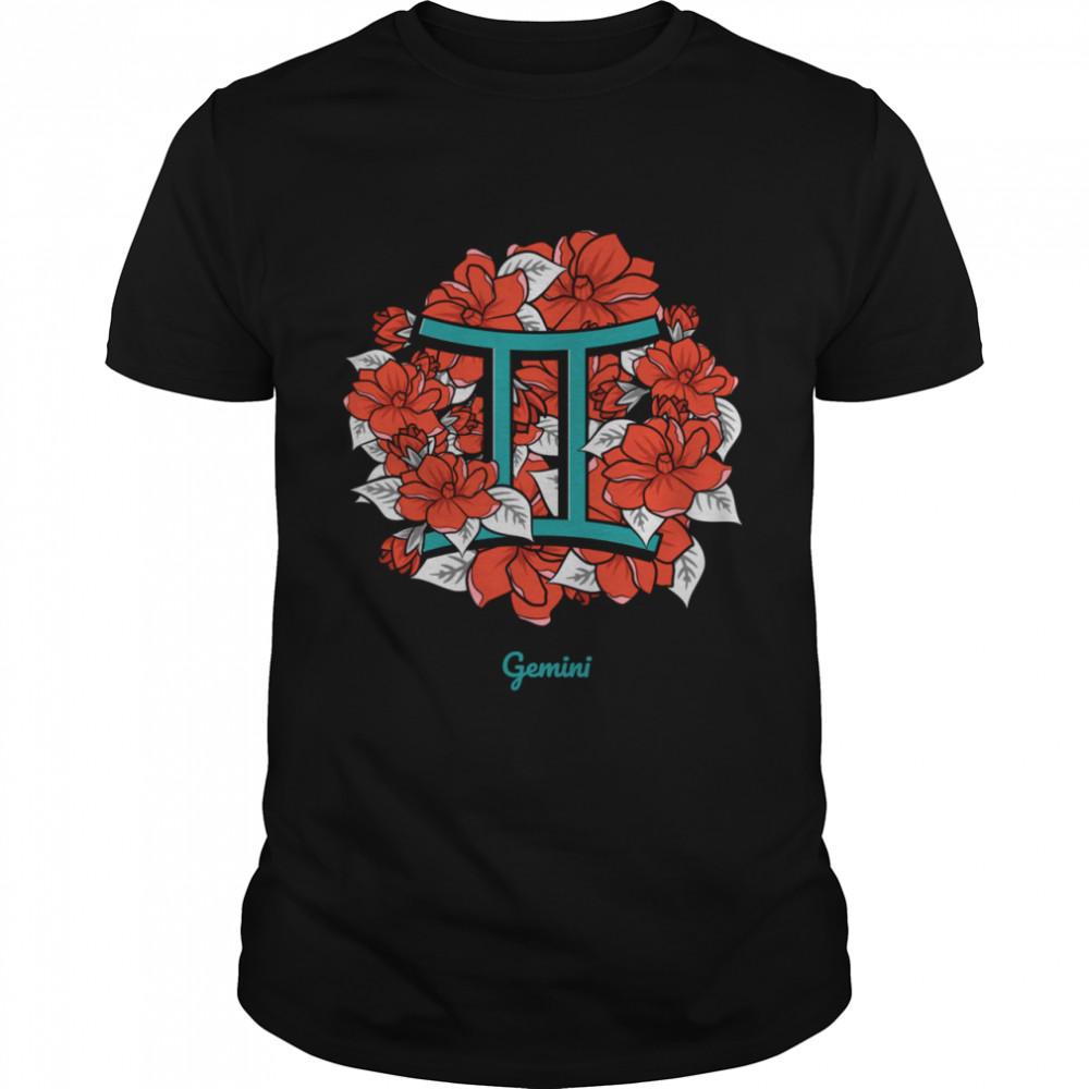 Floral Zodiac Gemini Shirt