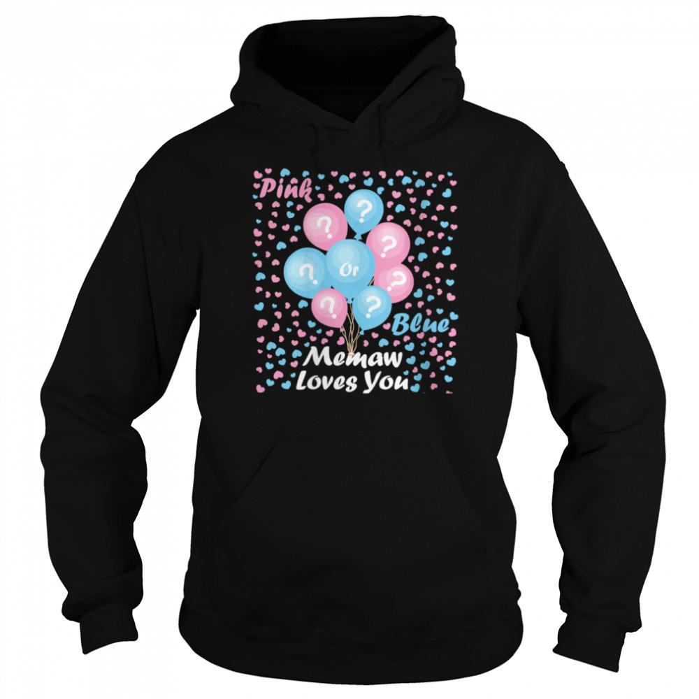 Gender Reveal Pink or blue mommy loves you  Unisex Hoodie