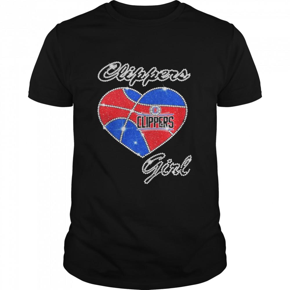 Heart Clippers Girl Diamond shirt