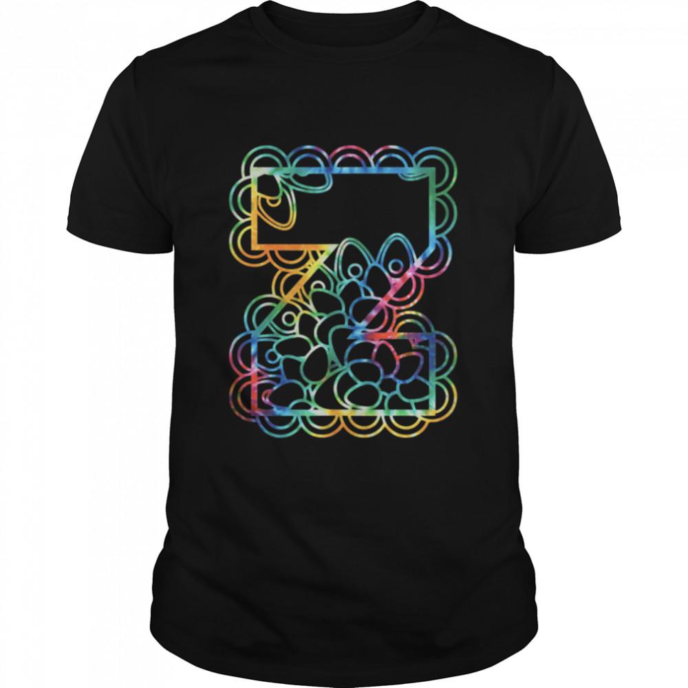 Z Capital Alphabet Monogram Initial Tie Dye shirt