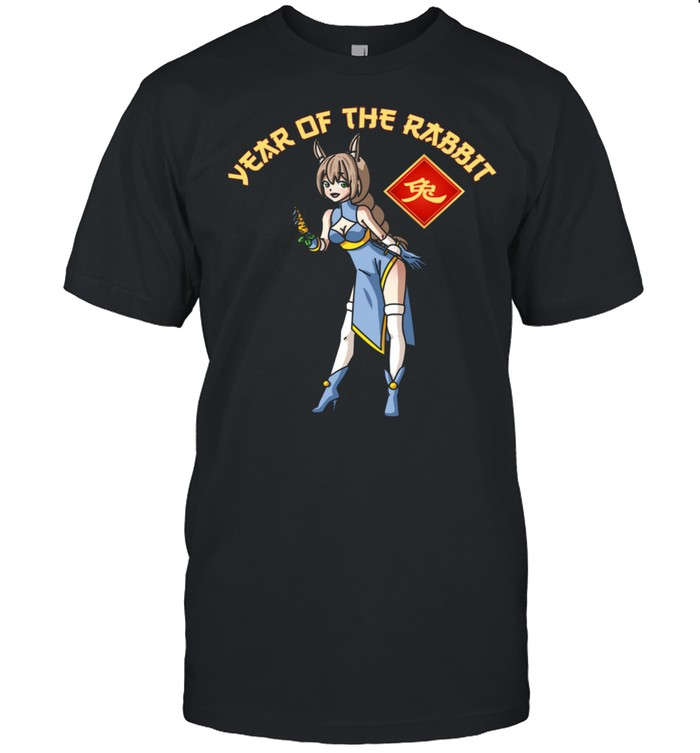Anime Year of The Rabbit Girl Chinese Zodiac Lunar New Year Shirt