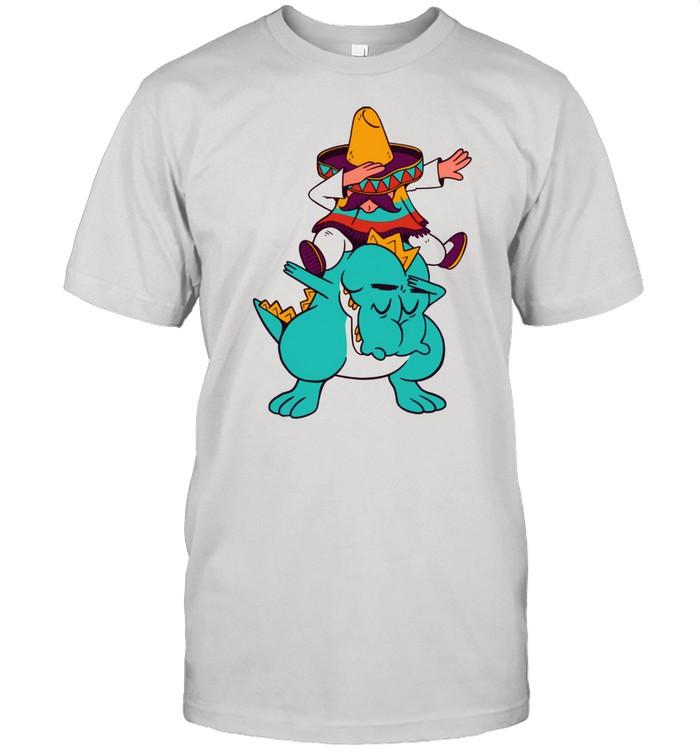 Mexican Riding Dinosaur TRex Mexico Dab Dabbing  Classic Men's T-shirt