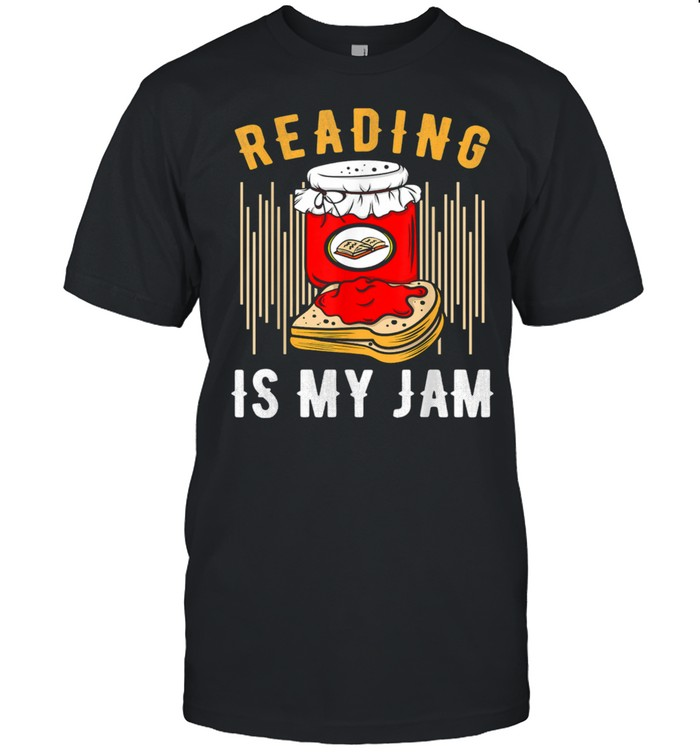 Reading Is My Jam Reading School Library Bookmark Spread Shirt