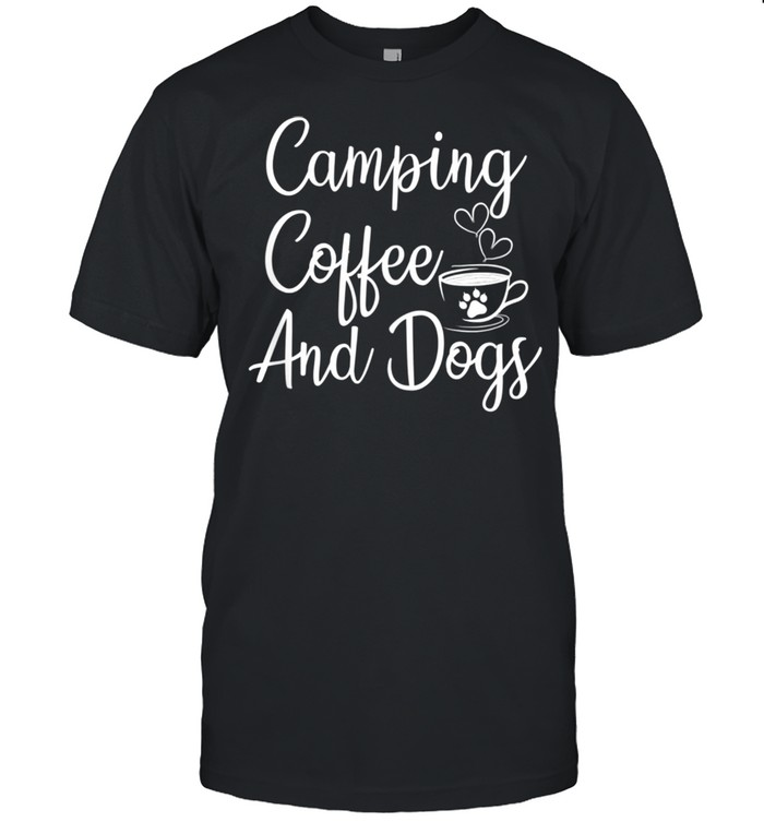 Coffee And Dogs Camping  Classic Men's T-shirt