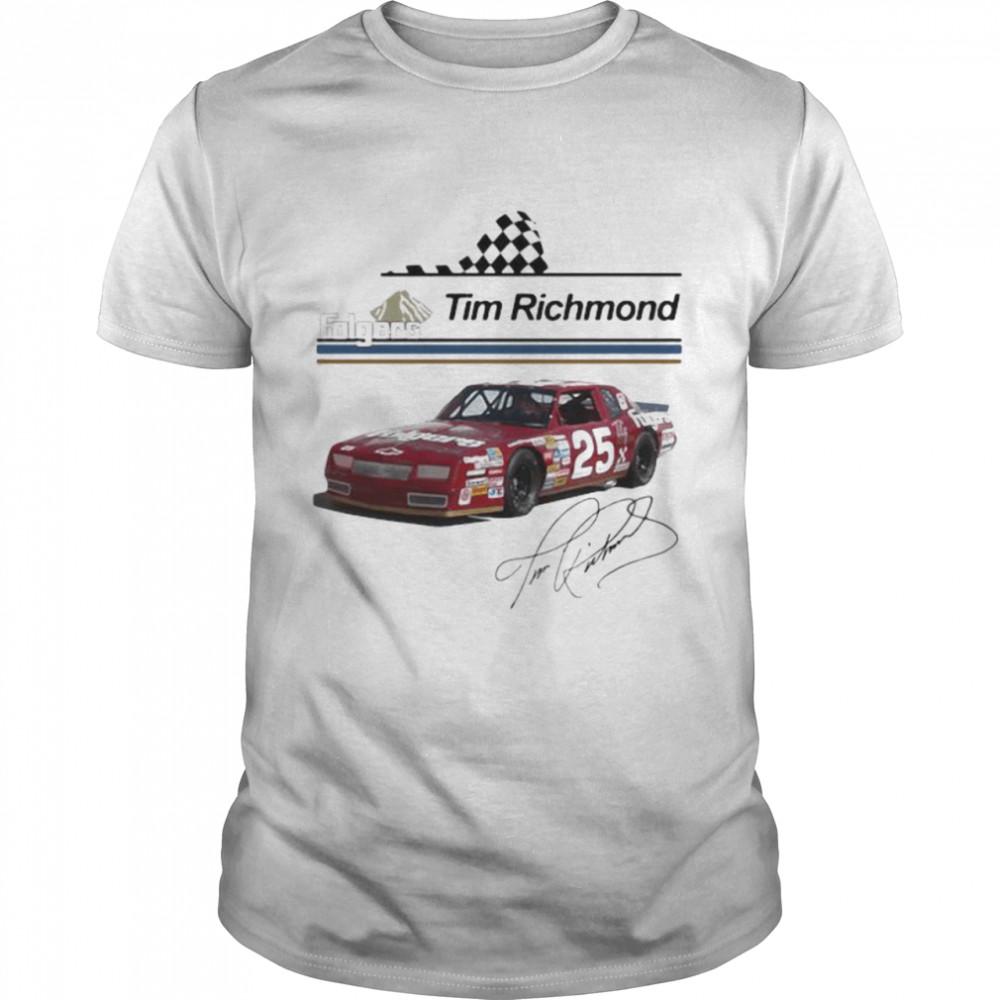Folgers Tim Richmond Nascar Signature  Classic Men's T-shirt