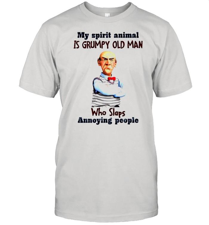 My spirit animal is grumpy old man who slaps annoying people shirt Classic Men's T-shirt