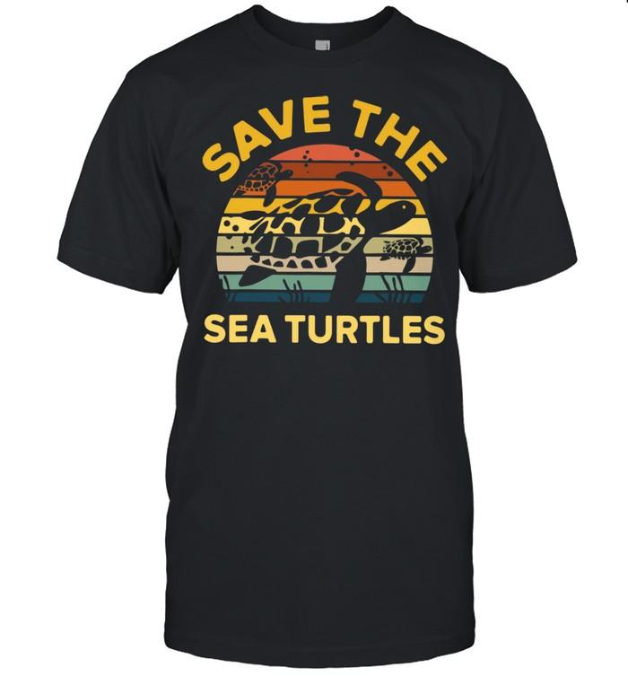 Save The Sea Turtle Vintage Retro shirt Classic Men's T-shirt
