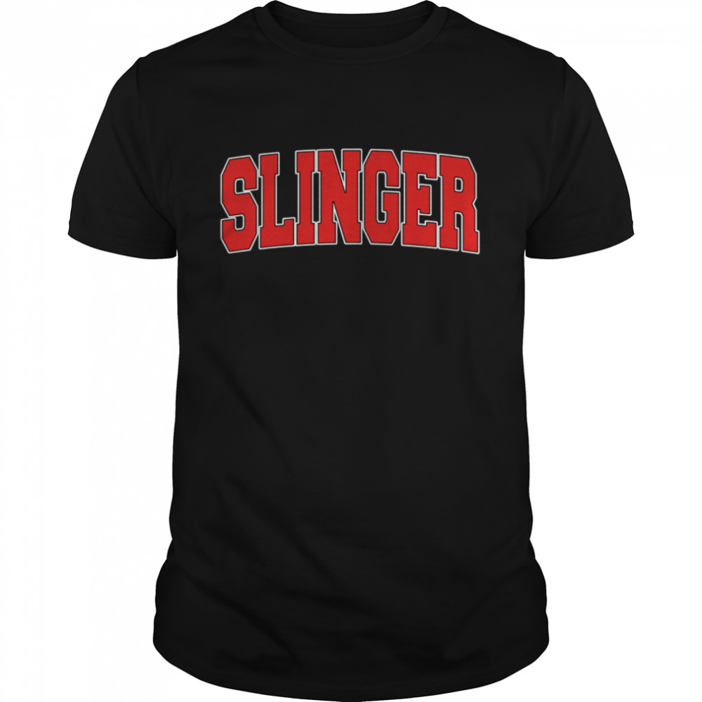 SLINGER WI WISCONSIN Varsity Style USA Vintage Sports shirt Classic Men's T-shirt