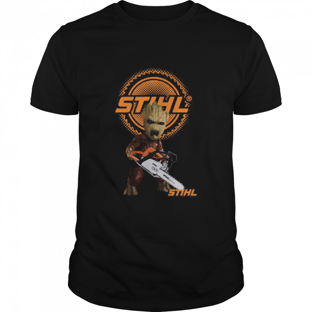 STIHL Baby Groot Chainsaw Guardians  Classic Men's T-shirt