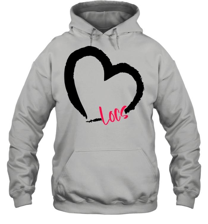 ggt self love heart natural hair locs goddess melanin  unisex hoodie