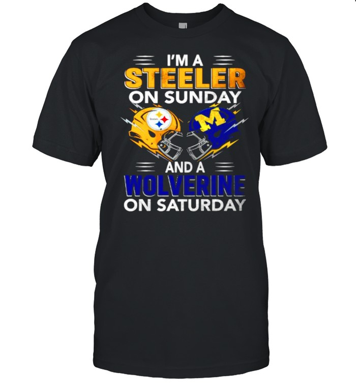Im a Steeler on sunday and a Wolverine on saturday shirt Classic Men's T-shirt