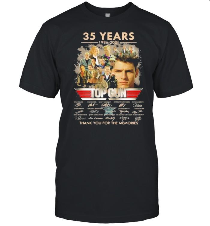 35 Years 1986 2021 Top Gun Thank You For The Memories Signature  Classic Men's T-shirt