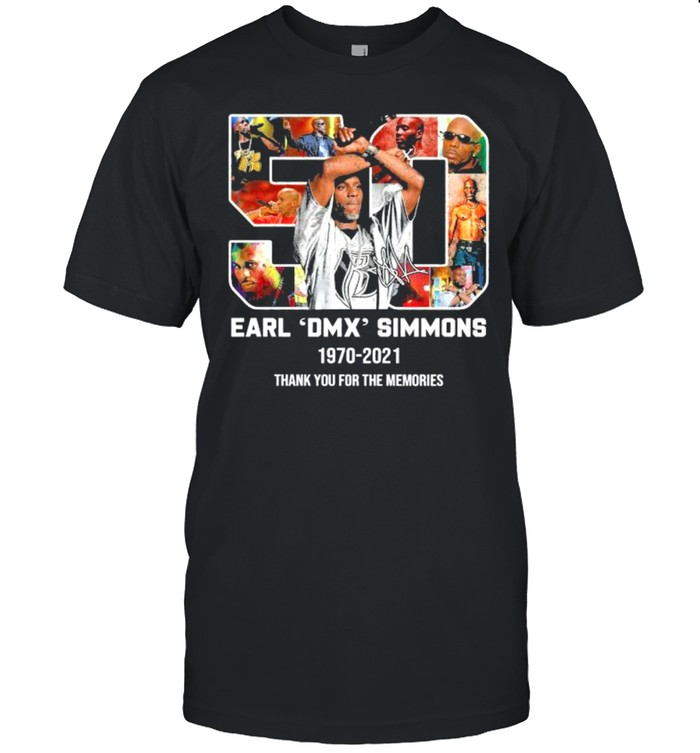 50 Earl Dmx Simsons 1970 2021 Thank You For The Memories Signature  Classic Men's T-shirt