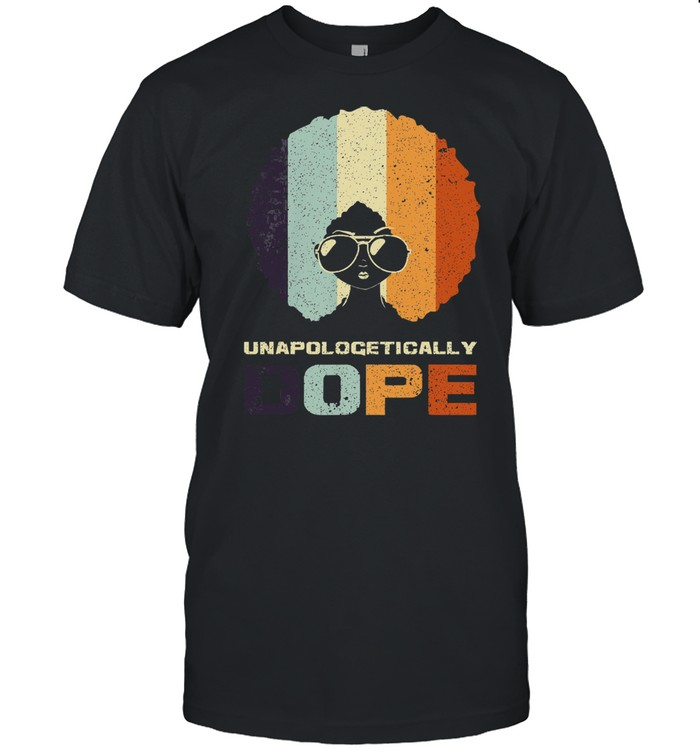 Black girl unapologetically dope vintage shirt Classic Men's T-shirt