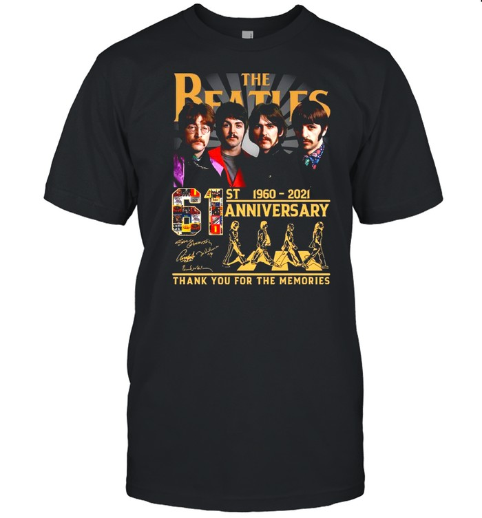 Thank You For The Memories The Beatles Abbey Road 61st Anniversary 1960 2021 Signatures shirt Classic Men's T-shirt