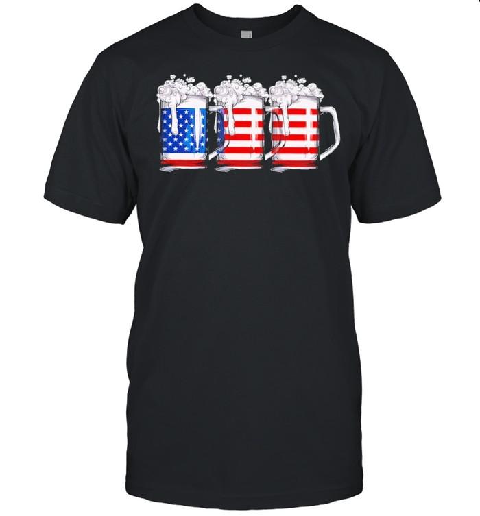 Three beer American flag shirt Classic Men's T-shirt