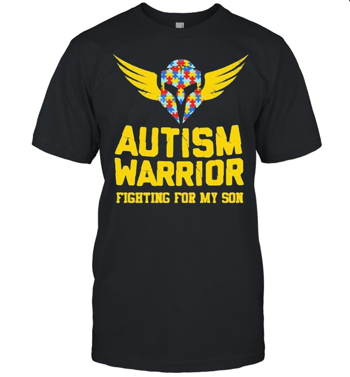 Autism Warrior Fighting For My Son  Classic Men's T-shirt