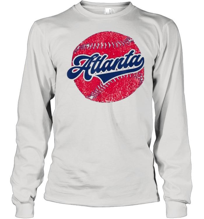atlanta baseball atl distressed game day brave  long sleeved t shirt