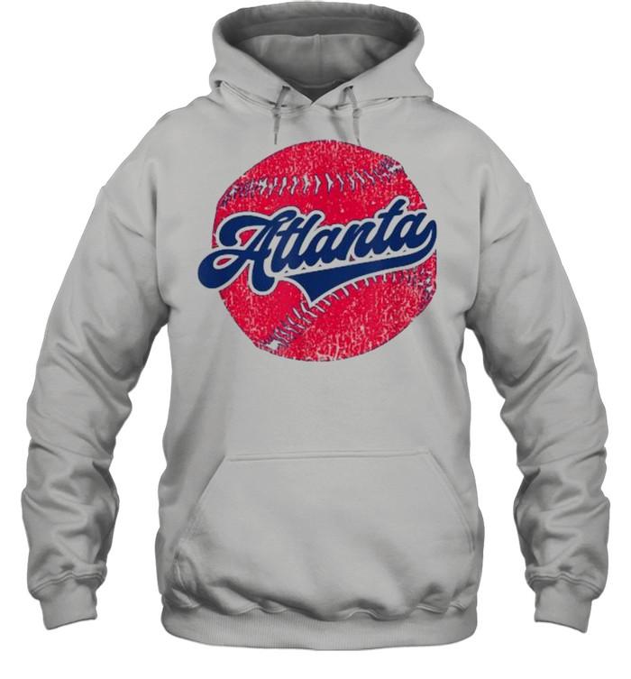atlanta baseball atl distressed game day brave  unisex hoodie