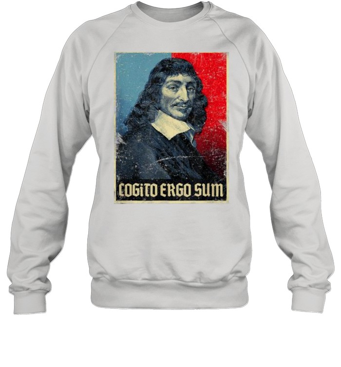 cogito ergo sum rene descartes principles philosophy vintage  unisex sweatshirt