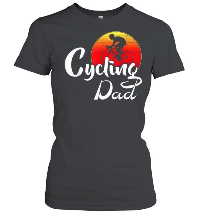 cycling dad shirt classic womens t shirt
