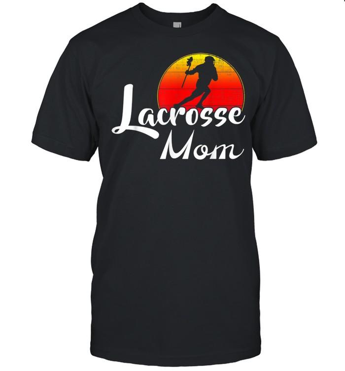 Vintage Lacrosse Mom Retro Sunset Sports shirt Classic Men's T-shirt
