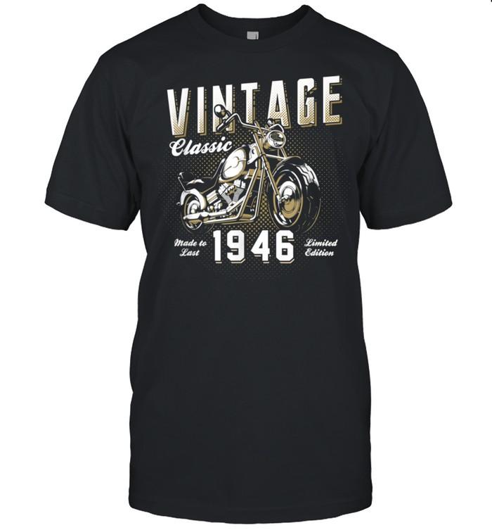 Vintage Motorcycle Born 1946 Classic Motorbike Birthday shirt Classic Men's T-shirt