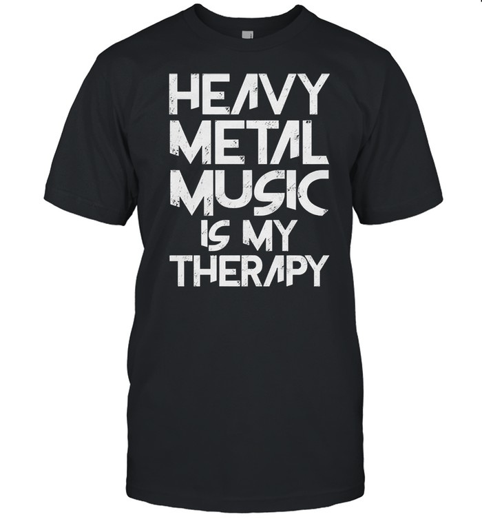 Heavy metal music is my therapy shirt Classic Men's T-shirt
