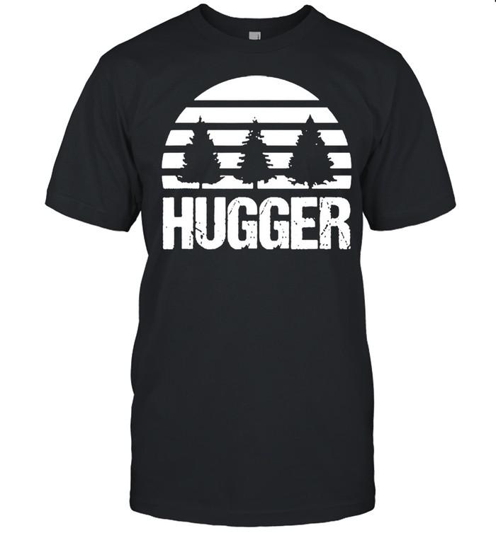 Hugger tree global warming climate change earth day shirt Classic Men's T-shirt