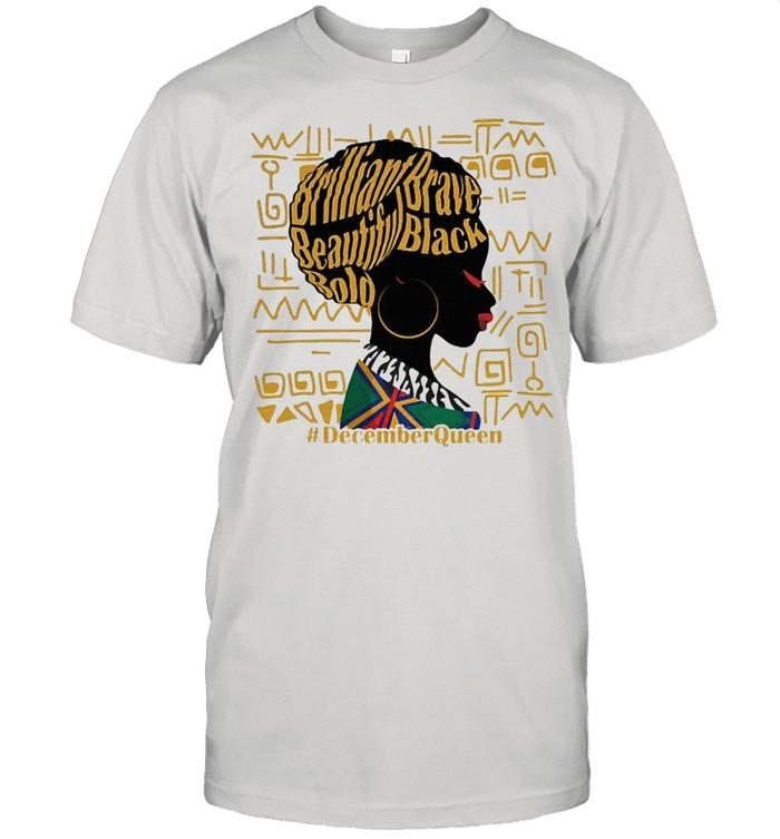 Brilliant brave beautiful bold decemberQueen shirt Classic Men's T-shirt