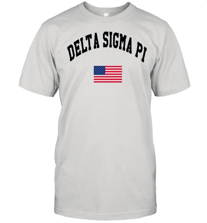 Delta Sigma Pi American Flag shirt Classic Men's T-shirt