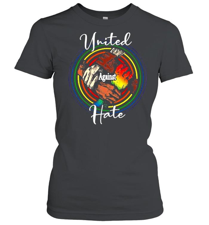 lgbt united against hate black live matter t shirt classic womens t shirt
