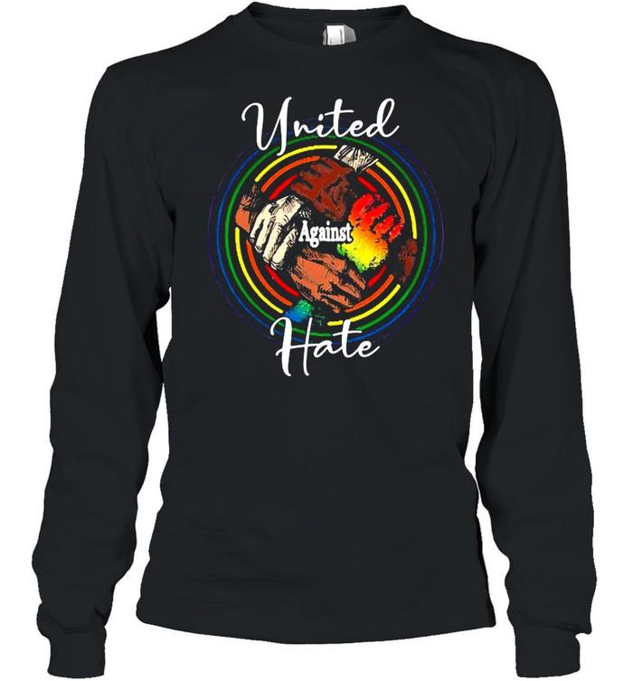 lgbt united against hate black live matter t shirt long sleeved t shirt