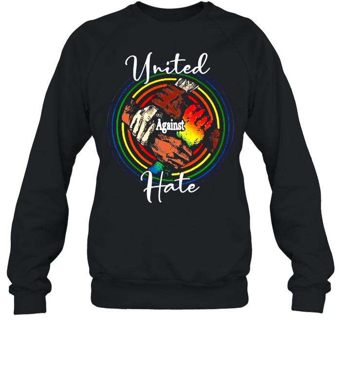 lgbt united against hate black live matter t shirt unisex sweatshirt